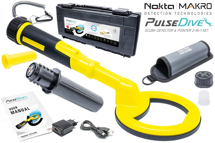 Nokta/Makro PulseDive (Scuba Detektor + Pinpointermodul) Farbe gelb